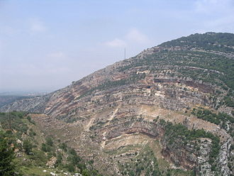 Anticline - Anticline near Ehden, Lebanon