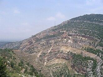 Anticline - Anticline near Ehden, Lebanon