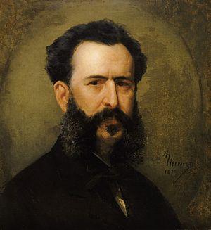 Martín Tovar y Tovar - Martín Tovar y Tovar. Portrait by   Antonio Herrera Toro (1878)