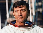 Apollo 16 Commander John Young, just after leaving the simulator (38833048154).jpg