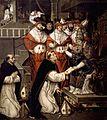 Aprobación por Honorio III de la Orden Dominica, del círculo de Juan de Juanes (Museo de Bellas Artes de Valencia).jpg
