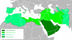 Isochronic Map of Arab Empire