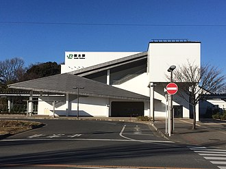 Araki Station (Chiba) - Araki Station south entrance in January 2017