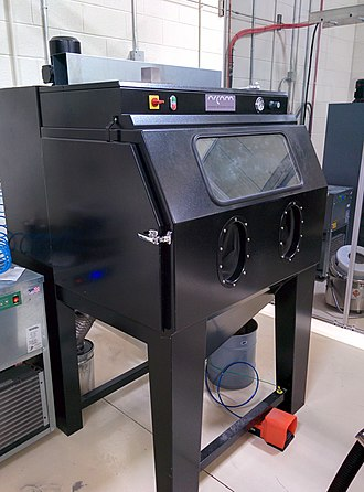 Electron-beam additive manufacturing - Image: Arcam Powder Recovery System