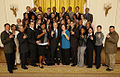 Arizona State men's and women's track teams at the White House - 20081112.jpg