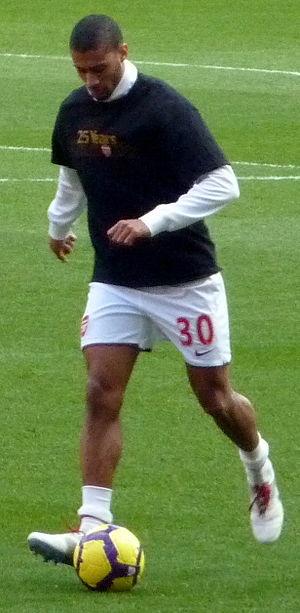 Armand Traoré - Traoré in training ahead of an Arsenal match in 2010.
