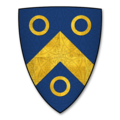 Armorial Bearings of the DOBYNS (d'Aubyn) family of Evesbatch, Herefordshire.png