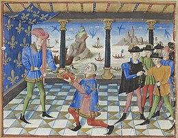 Armorial de Gilles Le Bouvier - BNF Fr.4985 f13v - Frontispice (cropped).jpg
