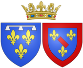 Arms of Louise Henriette de Bourbon as Duchess of Orléans.png