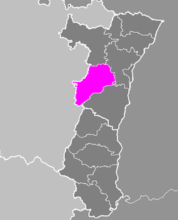 Location of Molsheim in Alsace