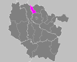 Location of Thionville-Ouest in Lorraine