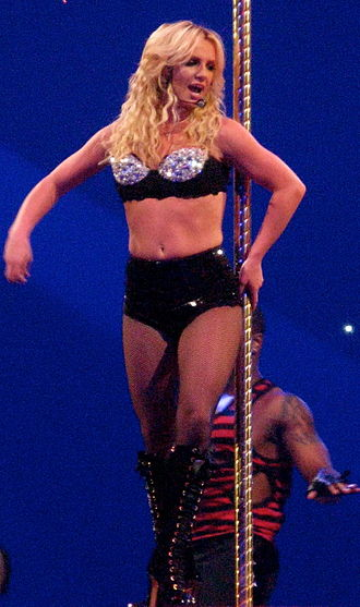 "Circus (Britney Spears album) - Spears performing ""Radar"" during The Circus Starring Britney Spears in 2009"