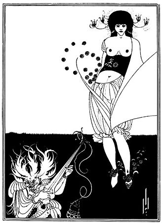 Aubrey Beardsley - The Stomach Dance, 1893