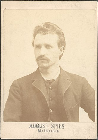 August Spies - August Spies as he appeared at the time of his conviction of conspiracy to commit murder in 1886.