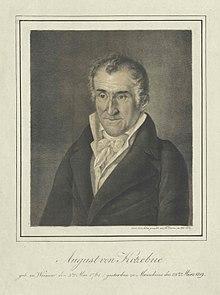 August von Kotzebue (1818) (Quelle: Wikimedia)