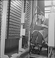 Automatic Telephone Exchange- Communications in Wartime, London, England, UK, 1945 D23699.jpg