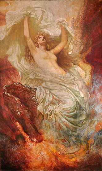 Christopher Williams (Welsh artist) - Deffroad Cymru, the Awakening of Wales (1911)