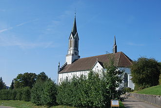 Bünzen, Aargau - The current church of Bünzen dates from 1862