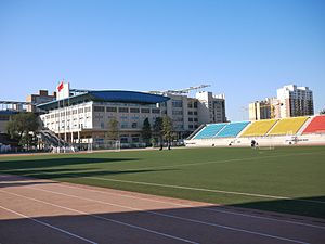 Beijing National Day School - Athletic field at the school
