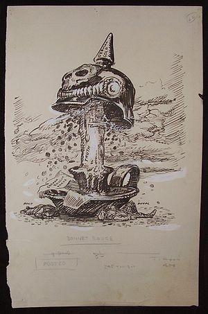 Oscar Cesare - Original drawing for a WWI-era political cartoon