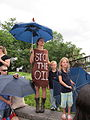 BP Oil Flood Protest Stop The Oil Umbrellas.JPG