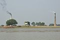 BSF Watchtower and Brickfield Chimneys - Hasnabad - River Ichamati - North 24 Parganas 2015-01-13 4488.JPG