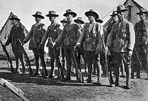 Australian Army Reserve - Soldiers of the CMF 56th Battalion in 1937