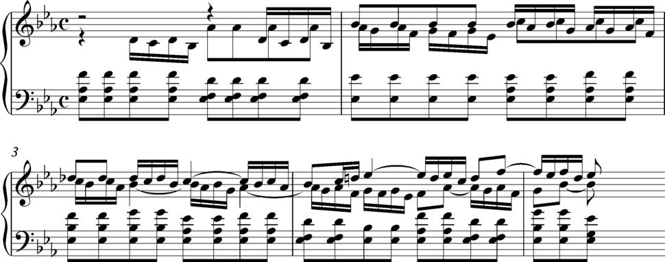 Bach BWV 54, opening bars