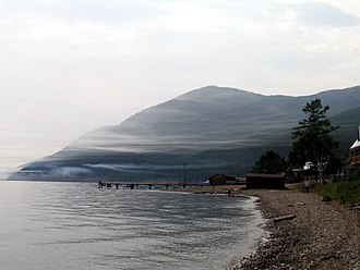 Baikal Mountains - The mountains and lake in the summer, as seen from Bolshiye Koty on the southwest shore