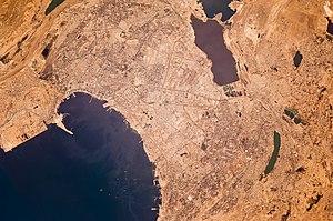 Inter Glass - A satellite image of Baku, Azerbaijan. Inter Glass is headquartered in Baku.