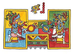 Codex Zouche-Nuttall - Ballcourt in the Codex Nuttall. Drawing by Lacambalam.