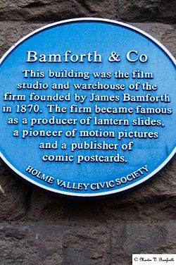 Photo of James Bamforth blue plaque