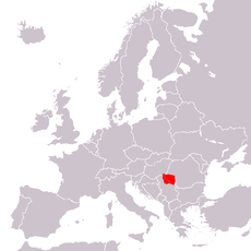 Location of the Banat in Europe
