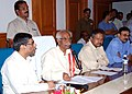 Bandaru Dattatreya addressing the media about the AchievementsInitiatives made by Employees' State Insurance Corporation(ESIC) during the last one year, at ESIC Regional office, Hyderabad on May 14, 2015.jpg