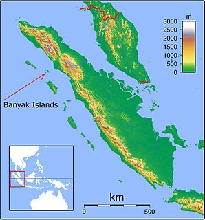 Banyak Islands district in Aceh Singkil Regency, Aceh Province, Indonesia