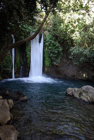 Golan Heights - Banyas waterfall in the Golan Heights