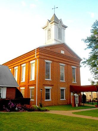 Milesburg, Pennsylvania - Image: Baptist Church Milesburg PA
