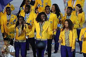 Barbados Flag Bearer 2008 Olympics