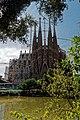 Barcelona - Plaça de Gaudí - View SW on La Sagrada Família - Nativity façade VIII.jpg