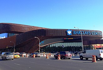 Pacific Park, Brooklyn - The completed Barclays Center, a large part of Pacific Park/Atlantic Yards, in September 2012