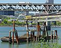 Barge and conveyor belt for Big Pipe project - Portland, Oregon.JPG