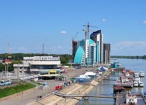 The Ob River in Barnaul.