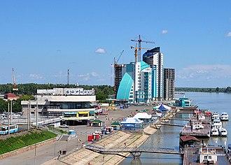 Ob River - The Ob River in Barnaul