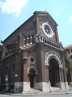 San Camillo de Lellis church building in Rome, Italy