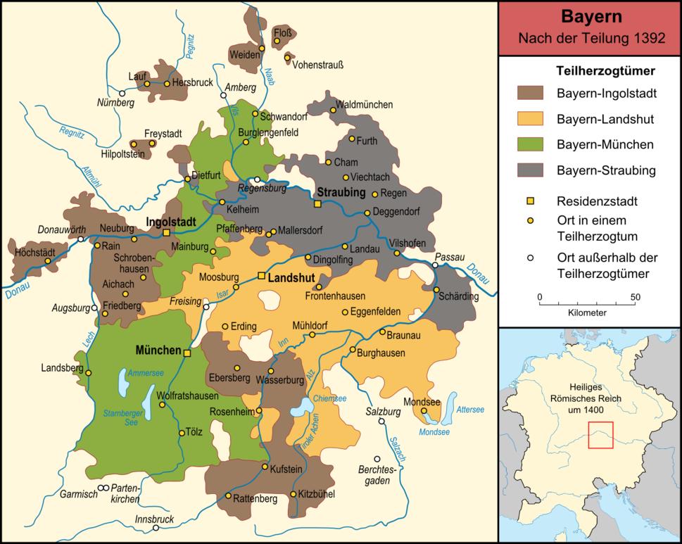 Bayern nach der Teilung 1392