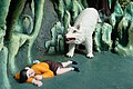 Bear falls for boy's dead act, Friendship and Loyalty (Virtues and Vices display) Haw Par Villa (14813738783).jpg