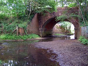 Beaulieu River - Image: Beaulieu river under railway arch