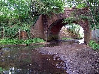 Beaulieu River - Image: Beaulieu river under railway arch