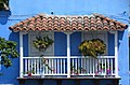Beautiful balcony, Street scene in Cartagena, Colombia (24212048003).jpg