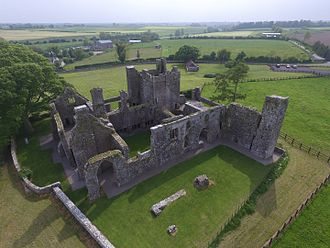 Bective Abbey - Bective Abbey from the sky